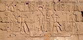 Egyptian antique hieroglyphs from Karnak Temple Complex
