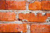Background From Orange Old Bricks