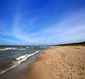 Baltic sea beach near Gdansk, Poland.