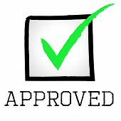Approved Tick Shows Checked Confirm And Verified