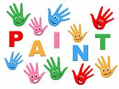 Paint Kids Means Painting Colorful And Children