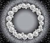 Shiny Pearls Frame