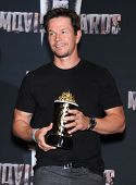 LOS ANGELES - APR 13:  Mark Wahlberg in the 2014 MTV Movie Awards - Press Room  on April 13, 2014 in