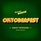 Octoberfest festival typography vintage retro style vector design poster template. Creative 3d typo
