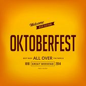 Octoberfest festival typography vintage retro style vector design poster. Creative typo font Oktober