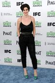 LOS ANGELES - MAR 01:  Gaby Hoffmann arrives to the Film Independent Spirit Awards 2014  on March 01