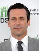 LOS ANGELES - MAR 01:  Jon Hamm arrives to the Film Independent Spirit Awards 2014  on March 01, 2014 in Santa Monica, CA.