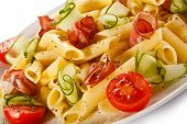 Pasta with meat and vegetables