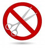 scissors forbidden sign icon