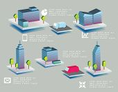 Set of vector office buildings for use in yours design.