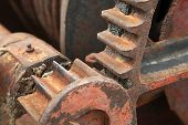 stock photo of machinery  - Cogwheels in an old machinery - JPG