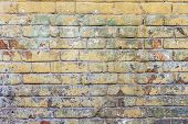 Colored Brick Wall