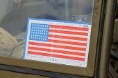 Sticker on Army American car