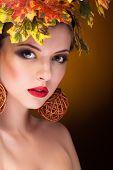 Fashion Autumn Concept Of Beautiful Girl