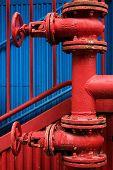 Water pumping station - industrial pipes.