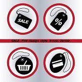 SALE tag icon, vector illustration. Flat design style