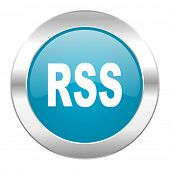 rss internet blue icon