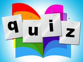 stock photo of quiz  - Questions Quiz Representing Information Asked And Puzzle - JPG