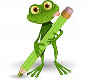 Frog With Pencil