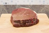 Raw beef topside
