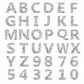 Dollar alphabet.