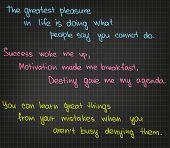 The greatest pleasure