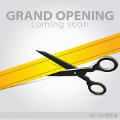 Shop Grand Opening - Cutting Yellow Ribbon
