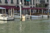 Boats Parked At The Grand Canal