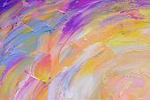 Abstract hand painted background on canvas