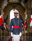 Soldier On Guard In Santo Domingo