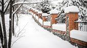Fence Under Snow