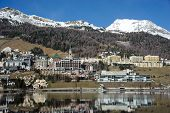 pic of engadine  - view of Saint Moritz in the Swiss Alps - JPG