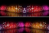 Music Multicolor Equalizer Banners