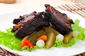 pic of marinade  - Baked beef ribs in honey soy marinade with pickled vegetables - JPG