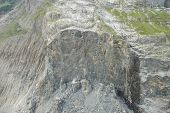stock photo of collapse  - Collapsed rock at Baregg nearby Grindelwald in Alps in Switzerland - JPG