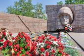 The Eternal Flame In The Memorial Complex Of City Samara, Russia