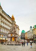 The Pestsaule (plague Column) At Graben Street In Vienna