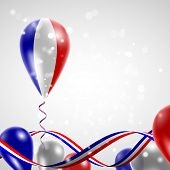 Flag of France on balloon