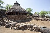 image of mud-hut  - Traditional Ethiopian village Karat Konso - JPG