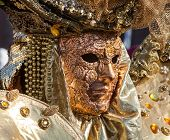 Golden Mask With Decorations And Carvings, Venezia.