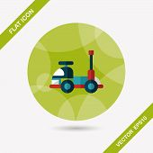 Toy Car Flat Icon With Long Shadow,eps10