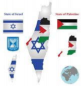 Israel Map Flag