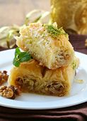 stock photo of baklava  - Turkish arabic dessert  - JPG