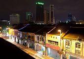 Night View Of Jalan Petaling Street In Chinatown.