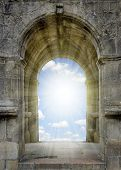 pic of gates heaven  - Gate to heaven with sunny sky - JPG