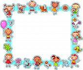 Happy Kids Rectangular Frame