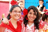 Spanish friends in traditional dress.