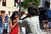 Television crew, Marbella.