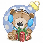 Teddy Bear In A Fur Headphones