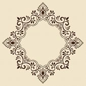 foto of traditional  - Vector ornamental round lace with damask and arabesque elements - JPG